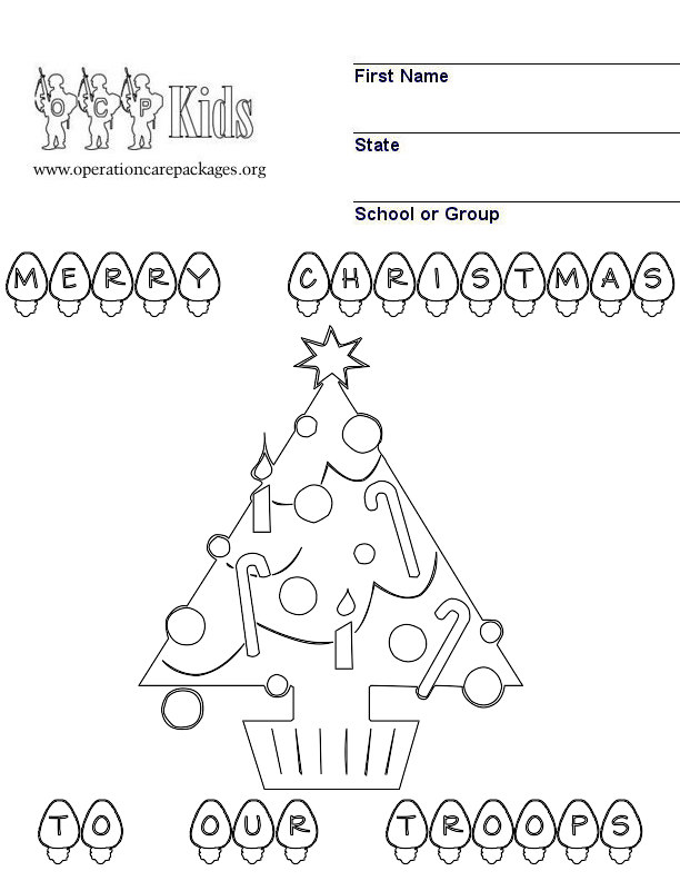 christmas military coloring pages - photo#7